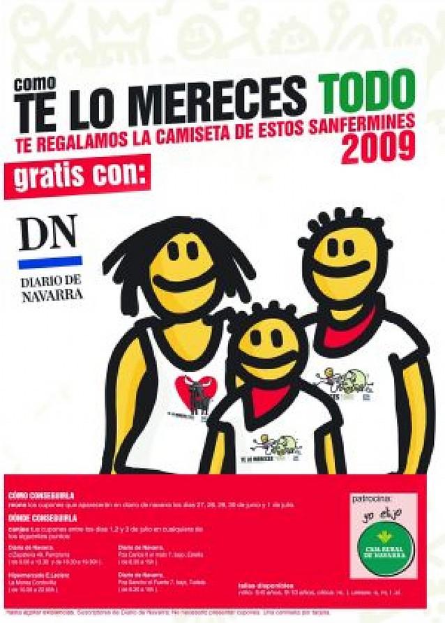 La camiseta de San Fermín, con el Diario