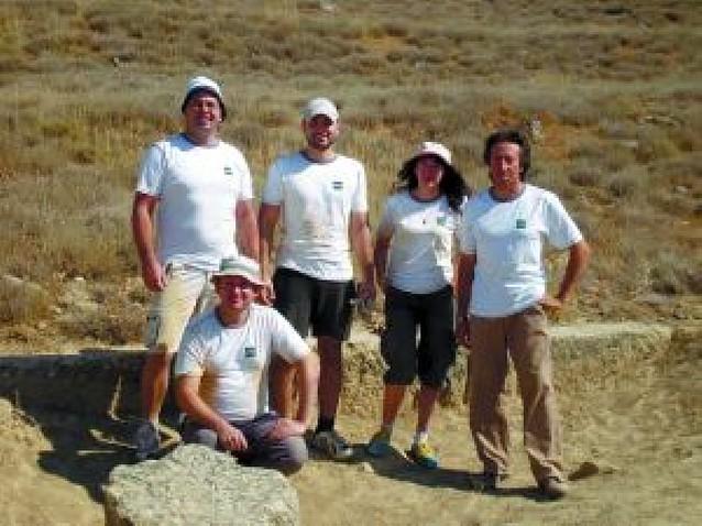 Cinco alumnos de la UNED de Tudela trabajan en un yacimiento aragonés