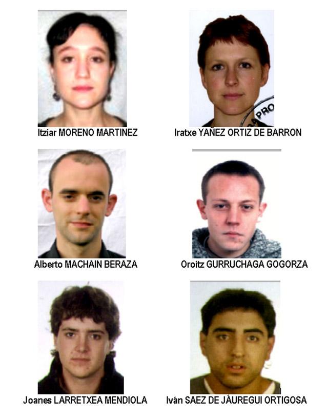 Interior distribuye las fotos de 6 etarras relacionados con la última ofensiva de ETA