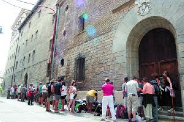 24.238 peregrinos han pernoctado en el albergue de Pamplona