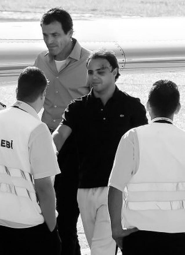 Felipe Massa sale del hospital y viaja a Brasil