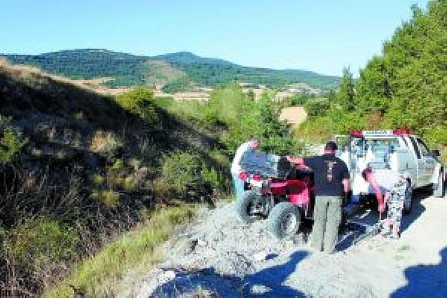 Una pareja de Ansoáin muere en Orrio (Ezcabarte) al accidentarse con su quad