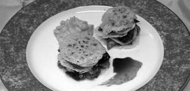 Lasagna de hongos y foie
