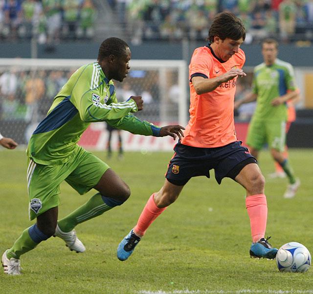 Messi se estrena por partida doble en la victoria del Barça en Seattle (0-4)
