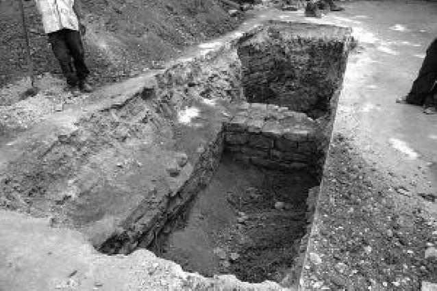 Catas arqueológicas en el solar donde se levantará el museo de San Fermín