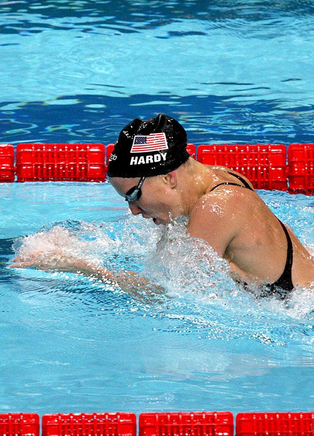 Jessica Hardy, primera mujer en bajar de 30 segundos en los 50 metros braza