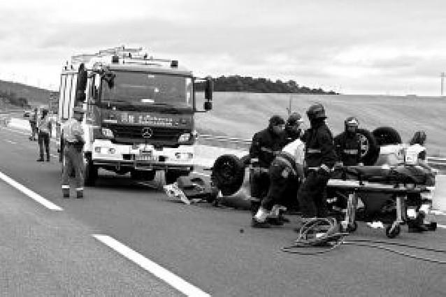 Herido leve un pamplonés al accidentarse en Astráin (A-12)