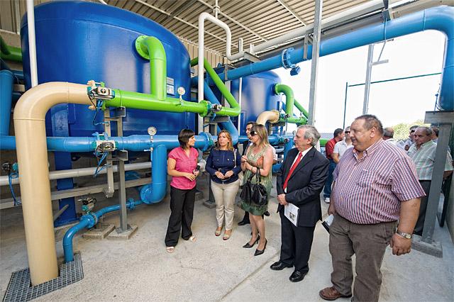 La estación de tratamiento de agua de Larrate abastecerá a 20.000 personas