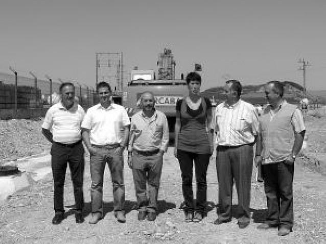 Elma Sáiz visita la obras del polígono industrial de Mendavia