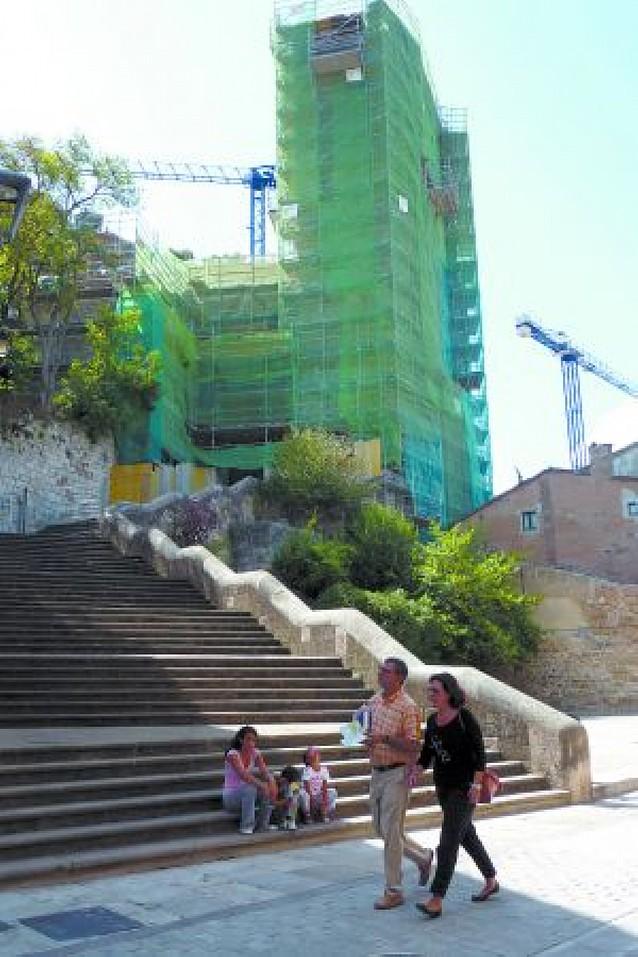 Las campanas de San Pedro de Estella se desmontarán por las obras en la torre