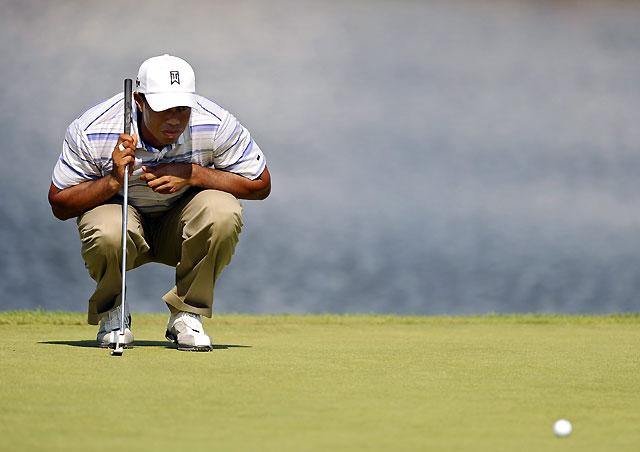 Tiger, líder con cuatro golpes de ventaja en el US PGA
