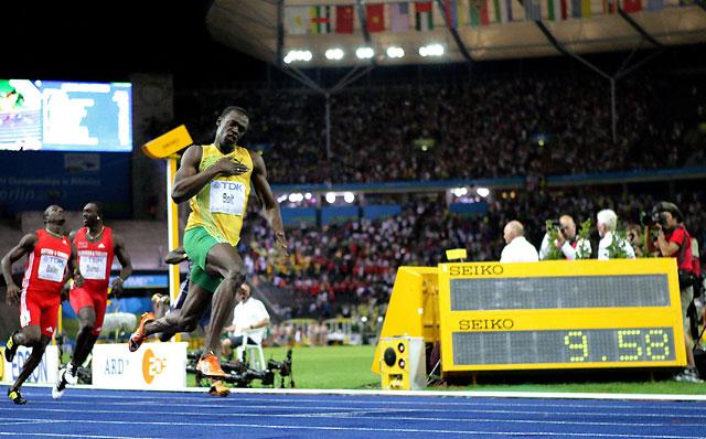 Estratosférico récord del mundo de 100 metros de Usain Bolt
