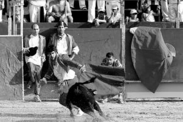 Juanjo Obeso, de la peña Aldabea, fue el mejor en la becerrada