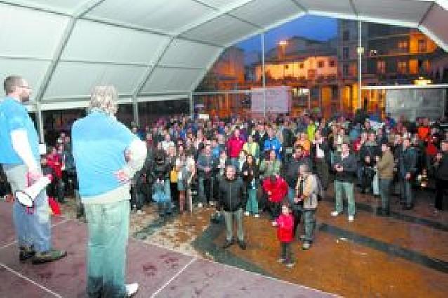Marcha en Huarte contra el ERE de Comansa