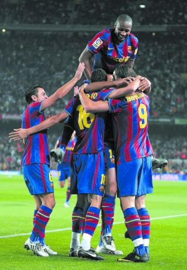 Al Barcelona le sobró la segunda mitad