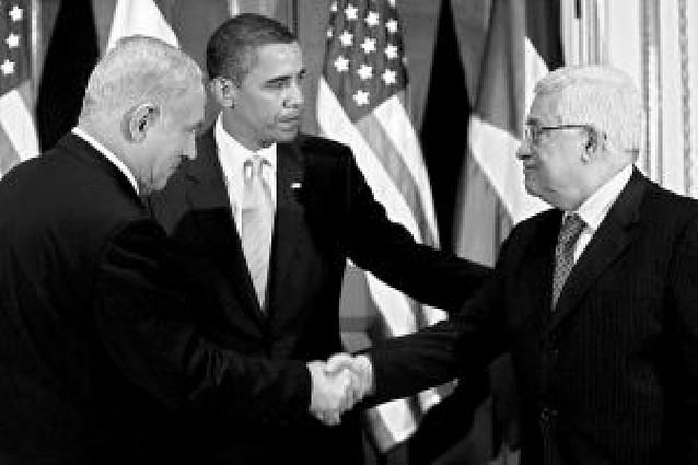 Primer encuentro de Barack Obama con israelíes y palestinos