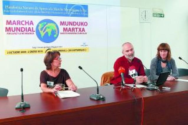 """Creada en Navarra una plataforma de apoyo a la """"Marcha Mundial por la Paz"""""""