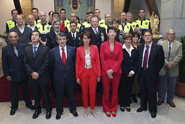 La Policía Municipal de Pamplona celebra la fiesta de su patrón, San Miguel Arcángel