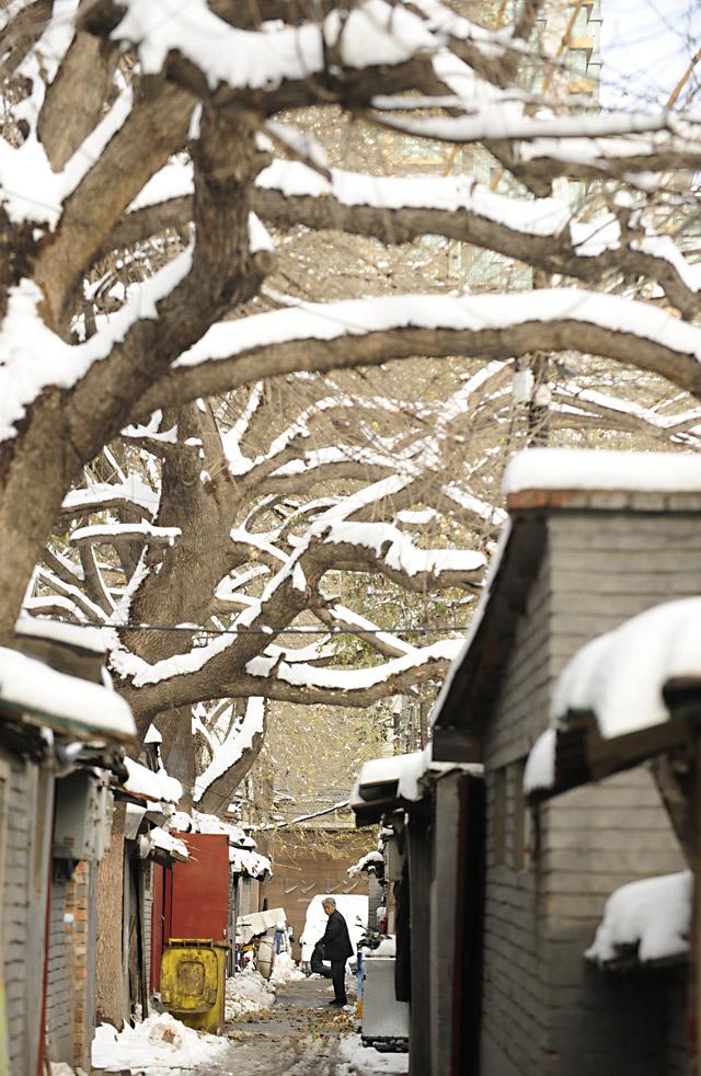 Pekín sufre su segunda gran nevada del otoño