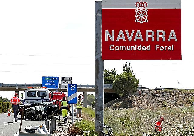 Fallece un camionero en un accidente en la AP-68 entre Alfaro y Calahorra