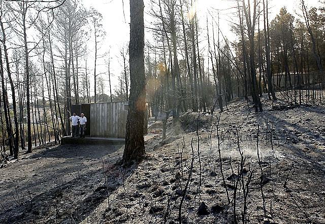 Los incendios en cuatro localidades de la Comunidad Valenciana afectan a 2.500 hectáreas
