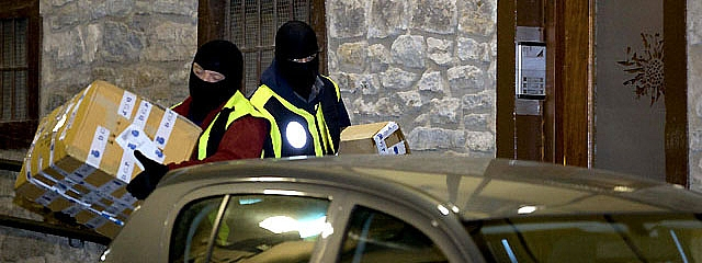 Detenidos siete miembros del aparato internacional del entorno de ETA
