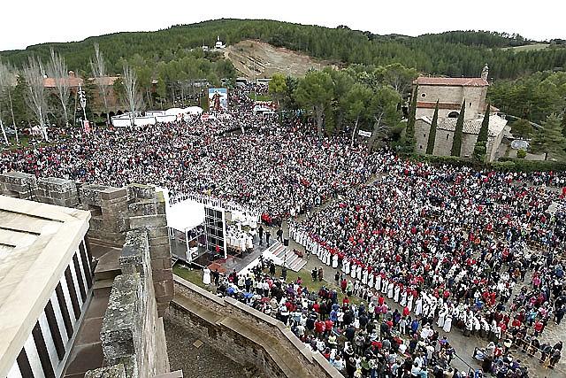 Unos 18.000 peregrinos han caminado hacia Javier, según los organizadores
